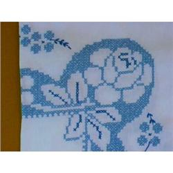 SHABBY CHIC ROSES Embroidery TABLECLOTH #2385039