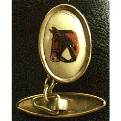 Early 1900's  Cufflinks HORSE Pict. #2385041