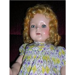 "19"" Composition Blonde Doll Unmarked #2385046"