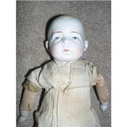 "9.5"" Closed Mouth Bisque Doll Marked Germany #2385047"