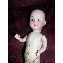 "7.5"" Bisque Doll Crude Body Eyes not set #2385051"