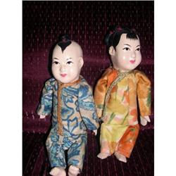 "6"" Composition China Pair Slight Crazing #2385052"