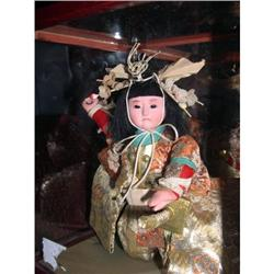 "9"" Japanese Doll in Case Purchased 1954 #2385059"