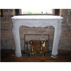 A 19th Century French White Marble Mantel #2385380