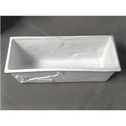 Roseville White Console Bowl 378-9 #2385436