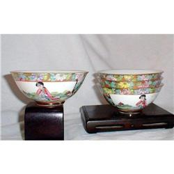 FAMILLE ROSE BOWLS CHINESE EXPORT (4) Qing #2385440