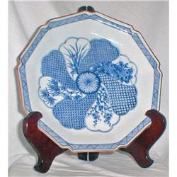 BLUE AND WHITE SHONZUI PLATE #2385442