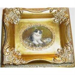 Small Framed Oil Painting Of A Kitten #2385481