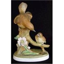 Crown Staffs. Model of a Flycatcher and Chick #2385557
