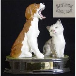 Beswick Model of a Dog and Cat #2385561