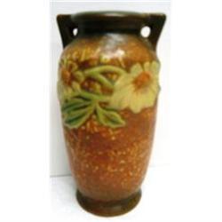 Vintage Roseville Dahlrose Brown Vase #2385628