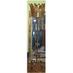 Tall Gilt Metal Plant Stand #2385635