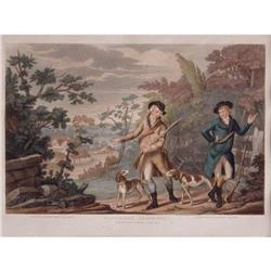"Color Engraving ""Partridge Shooting"" #2385654"