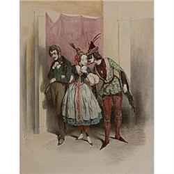 "Color Lithograph ""Partie"" (Party) by Gavarni #2385656"