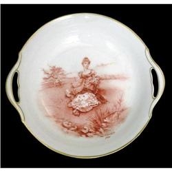 Limoges Handled Bowl French Lady #2385666