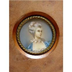 Miniature Portrait of a Lady signed Smit #2385670