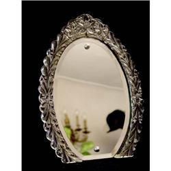Pressed Glass Oval Table Picture Frame #2385671