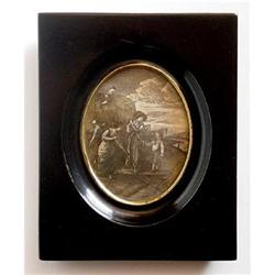 Miniature Engraving of Wheat Harvest #2385672