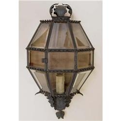 Beveled Glass Wall Mount Lantern #2385676