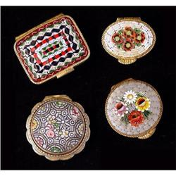 Four Vintage Miniature Pill Boxes #2385680