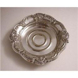 Rococo Silver-Plated Large Coaster marked #2385682