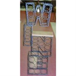 Wine Rack with Cutting Board - Spells out WINE #2385943