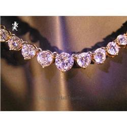 RHJ Classic All Cubic Zirconium Stone Necklace #2389593