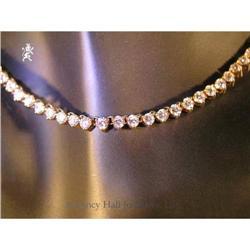 "RHJ 14"" All Cubic Zirconium Stone  Necklace  #2389594"