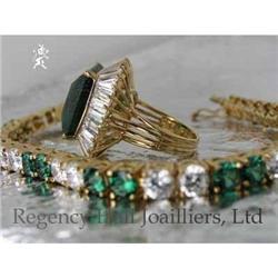 RHJ Elegant Simulated Emerald (YAG) Ring  #2389595
