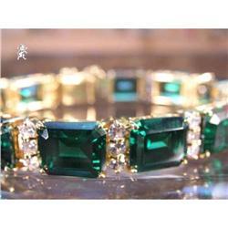 RHJ Simulated Emerald (YAG) & CubicZirconium  #2389598