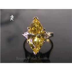 RHJ Canary Cubic Zirconium Marquise Ring #2389601