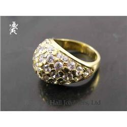 RHJ Stunning Paved Cubic Zirconium Dome Ring #2389603