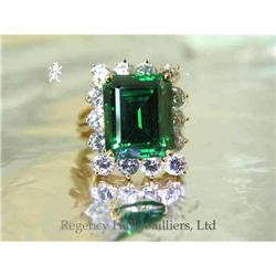 RHJ Simulated Emerald ( YAG) Ring with Lacy #2389605