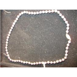 Lady's Cultured Black  Pearl Necklace          #2389613