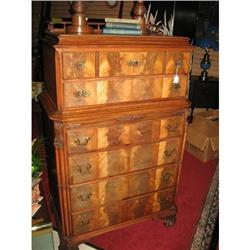 Classic Crotched Mahogany Chest of Drawers with#2389614