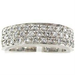 18K Wh. Gold .40ct Diamond Wedding Band #2389617