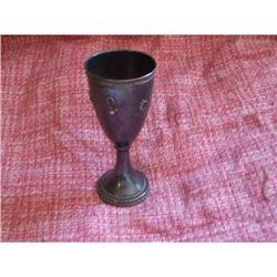 Sterling silver (925) enamel cup, Judaica(?)  #2389625