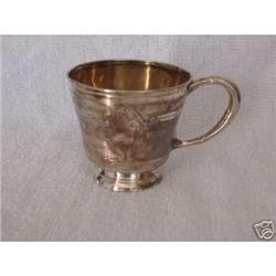 French hallmark silver cup (circa 1840s) goblet#2389629