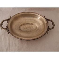 Antique hallmark dish silver 812  plate #2389631