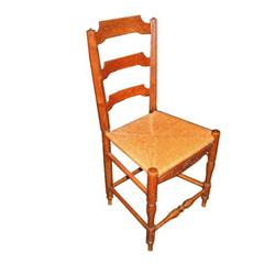 Pair of French Oak Farm Chairs #2389636