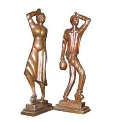 Pair of Hand-Carved Statues from New Orleans #2389637