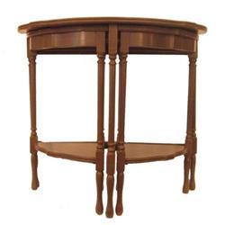 Pair of Demilune Nesting Tables #2389644