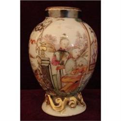 C. 1770 CHINESE EXPORT MANDARIN PALETTE TEA POY#2389650