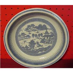 CHINESE EXPORT BLUE CANTON PIE PLATE #2389658