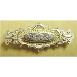 Ornate 9c Victorian Etruscan BAR PIN #2389667