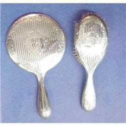 Early 1900's BIRKS Sterling MIRROR & BRUSH #2389674