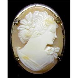 Carved SHELL CAMEO Brooch #2389683