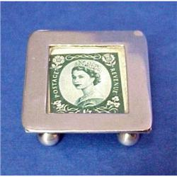 Tiny Antique Sterling Stamp Box #2389687