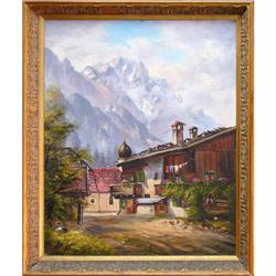 ORIG OIL PAINTING MOUNTAINSCAPE ZUGSPITZE #2389938