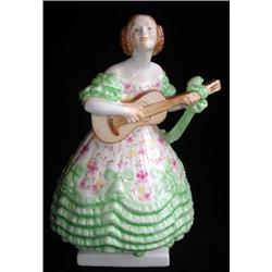 Herend Dary Ne Lady With Guitar Green #2389950